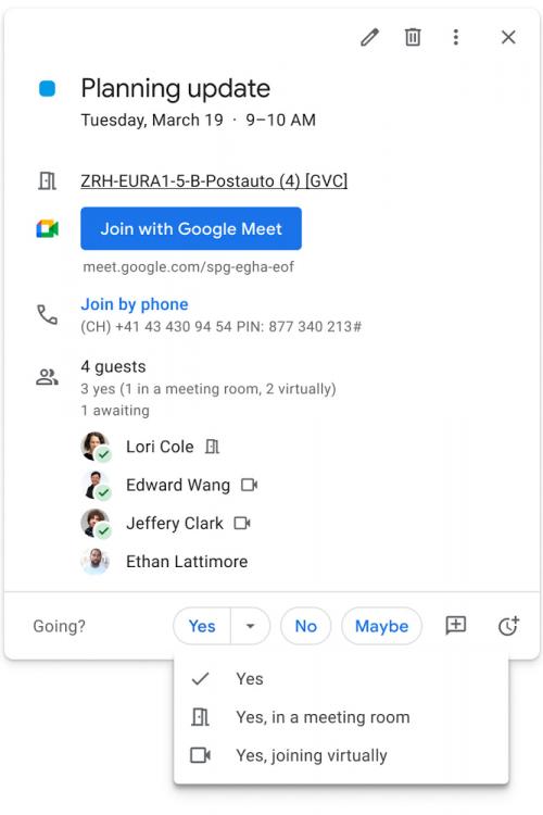 RSVP meetings